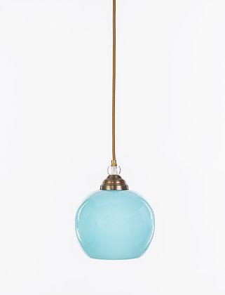 מנורת תלייה זכוכית כבל בד - וינטאג' עגול