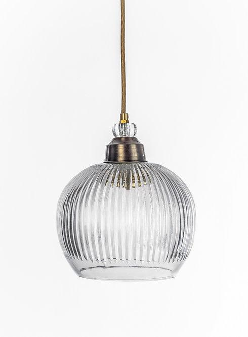 מנורת תלייה זכוכית כבל בד - עינב
