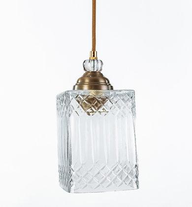 מנורת תלייה זכוכית כבל בד -גורי