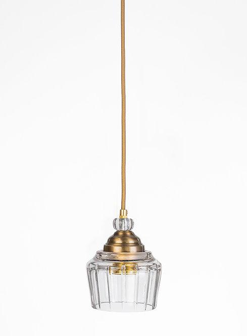 מנורת תלייה זכוכית כבל בד - אבנר