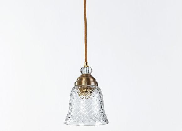 מנורת תלייה זכוכית כבל בד -ברית