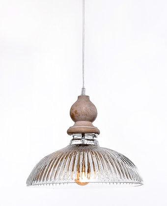 מנורת תלייה זכוכית כבל בד - שירלי