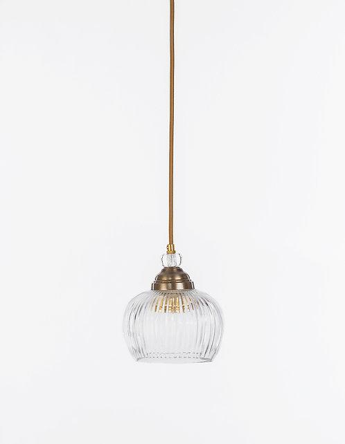 מנורת תלייה זכוכית כבל בד - נדין