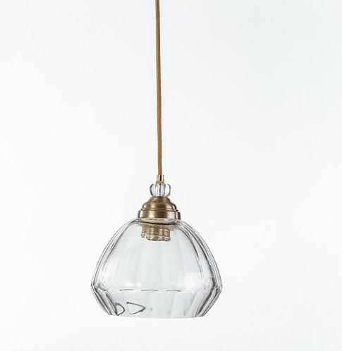 מנורת תלייה זכוכית כבל בד -גרציה