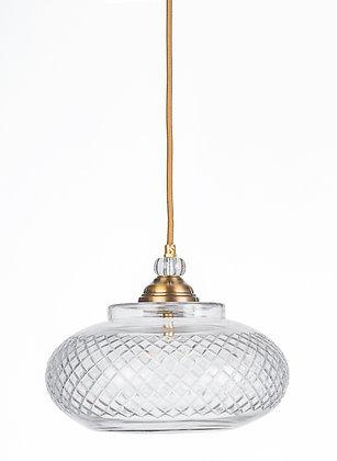 מנורת תלייה זכוכית כבל בד - אורפז