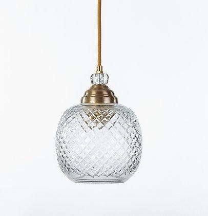 מנורת תלייה זכוכית כבל בד -גינת
