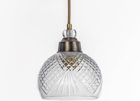 מנורת תלייה זכוכית כבל בד - נתיב