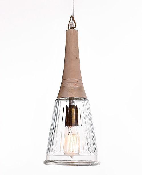 מנורת תלייה זכוכית כבל בד - שון