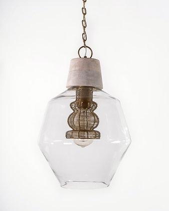 מנורת תלייה זכוכית - שמאי