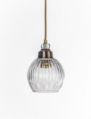מנורת תלייה זכוכית כבל בד - שיר
