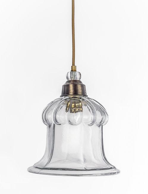 מנורת תלייה זכוכית כבל בד - נווה