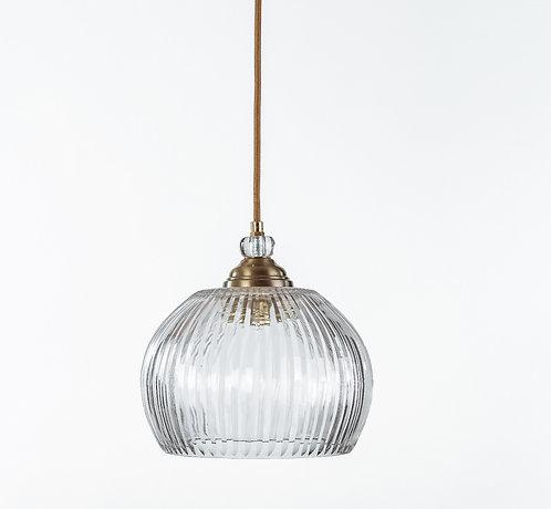 מנורת תלייה זכוכית כבל בד -דיה
