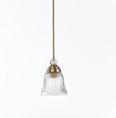 מנורת תלייה זכוכית כבל בד -בריטני