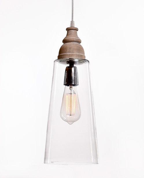 מנורת תלייה זכוכית כבל בד - שלוה
