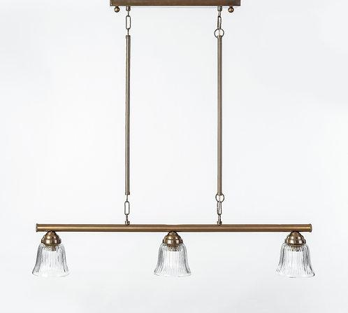 מנורת תלייה צינור - אלון