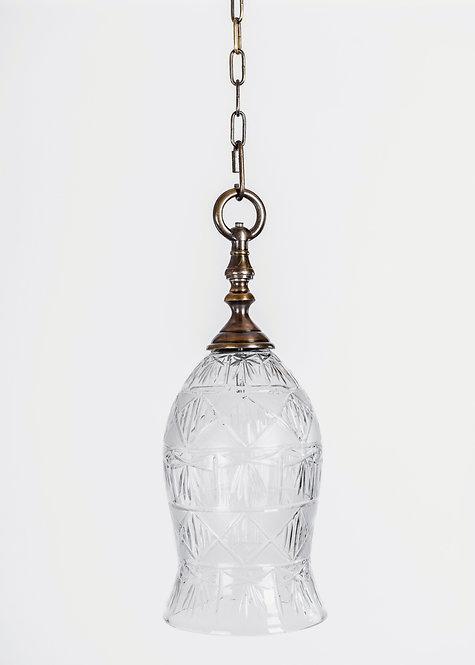 מנורת תלייה זכוכית - נצר