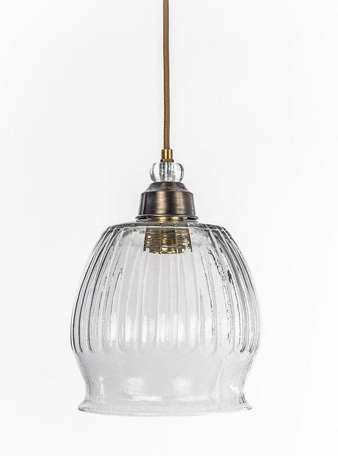 מנורת תלייה זכוכית כבל בד - שלף
