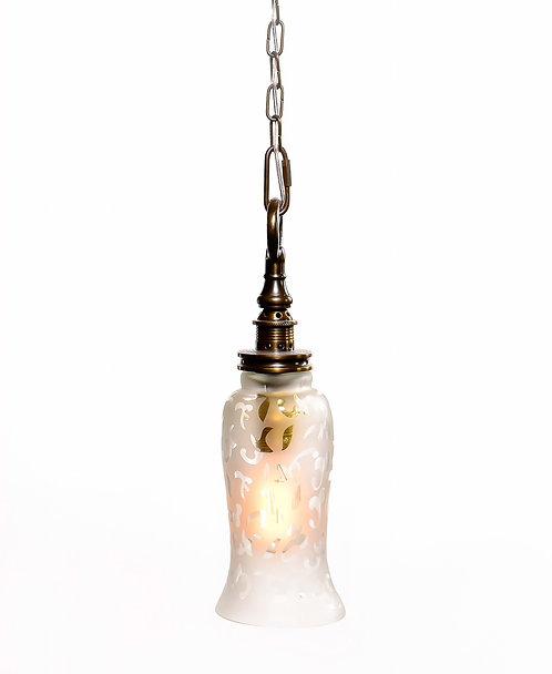 מנורת תלייה זכוכית - אבישג