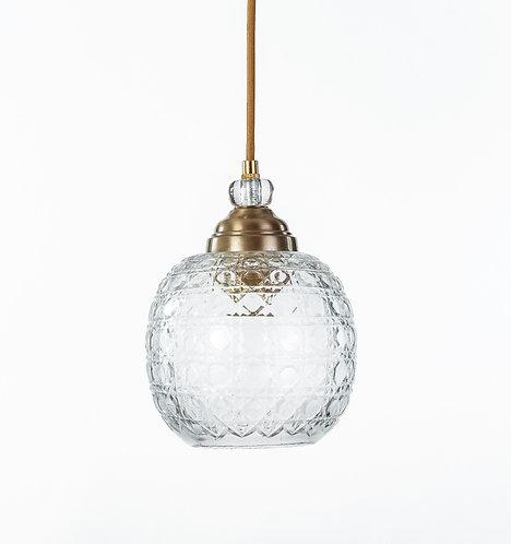 מנורת תלייה זכוכית כבל בד -גד