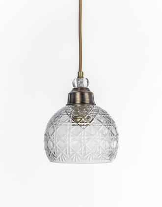 מנורת תלייה זכוכית כבל בד - נרקיס