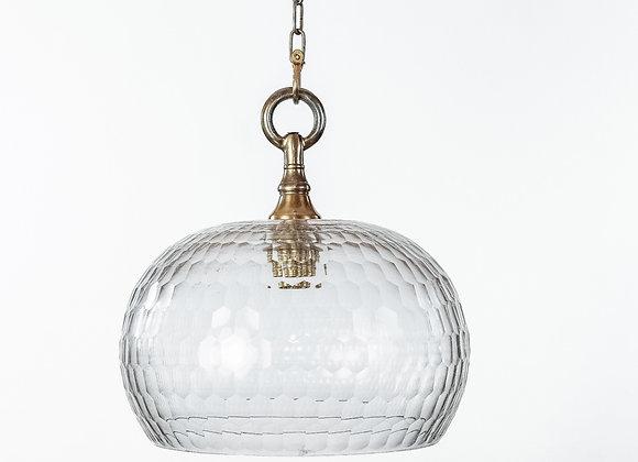 מנורת תלייה זכוכית -משי