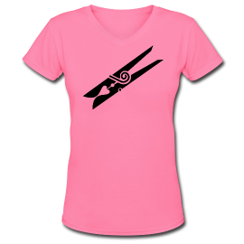 Ladies' Pink V-Neck