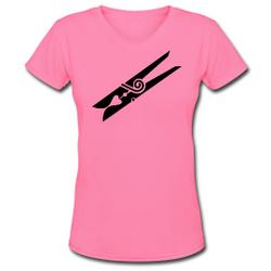 Ladies' Pink V-Neck