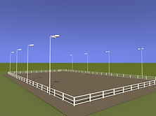 horse manege lighting design
