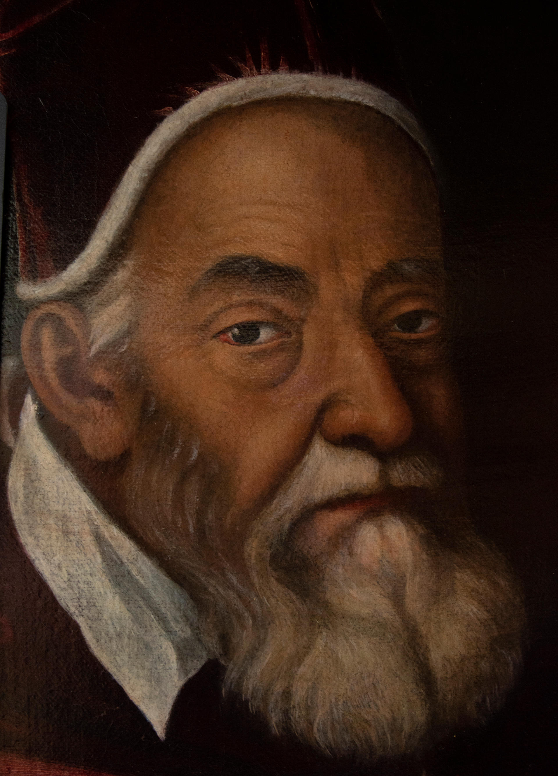 Detail of the Pope's face