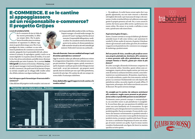Tre Bicchieri Gambero Rosso intervista Letizia Sebregondi sull'e-commerce e le vendite online