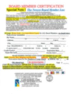 Board Member Certification Order Form.jp