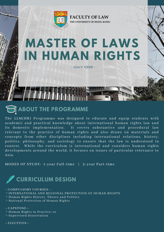 Master of Laws in Human Rights 2020/21