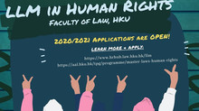 [LLM in Human Rights at The University of Hong Kong] APPLICATION DEADLINE IS NOW 27 MARCH 2020!