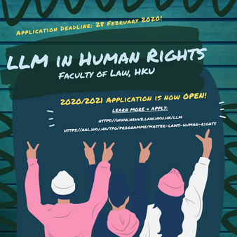 Master of Laws in Human Rights - Application for the 2020 Intake is now open!