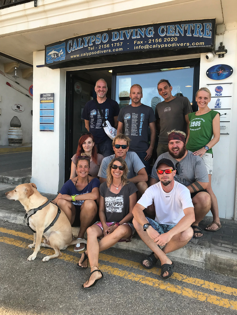 Group photo of dive team