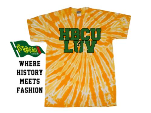 HBCU LUV Gold Tie Dye
