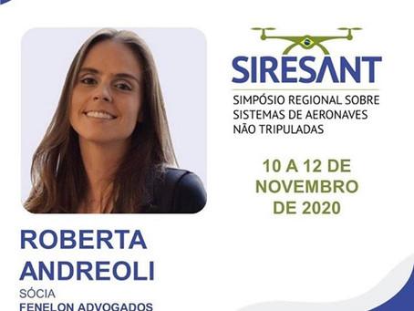 Roberta AndreoIi participa do 2º Simpósio Regional sobre Sistemas de Aeronaves não Tripuladas