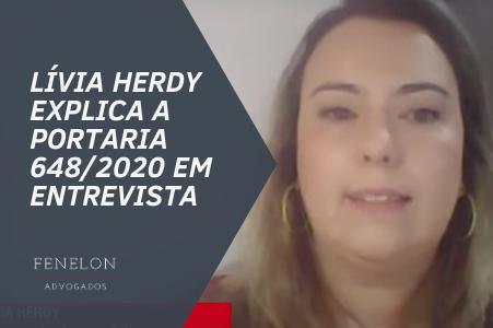 Lívia Herdy explica a portaria que exige apresentação do exame RT-PCR para entrar no Brasil