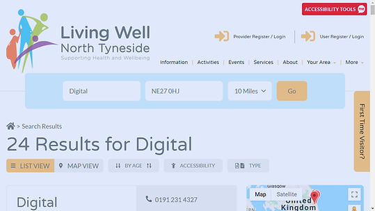 Living Well North Tyneside website