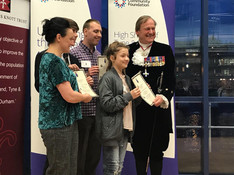 Mart and group collecting High Sheriff A
