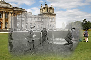 Image of WW1 ghosts playing cricket as part of convalescene in UK