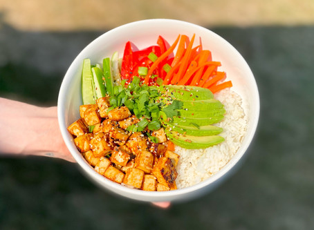 Spicy Garlic Tofu Bowl recipe
