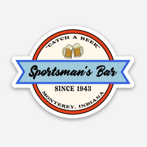 SPORTSMAN'S BAR RETRO STICKER