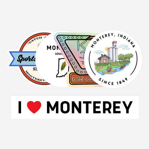 WELCOME TO MONTEREY STICKER *BUNDLE*