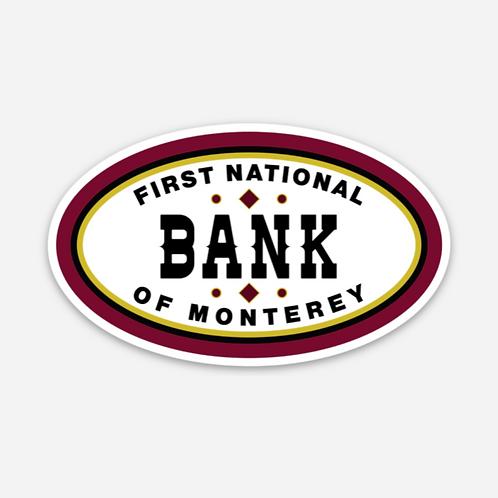 VINTAGE 1ST NATIONAL BANK OF MONTEREY STICKER