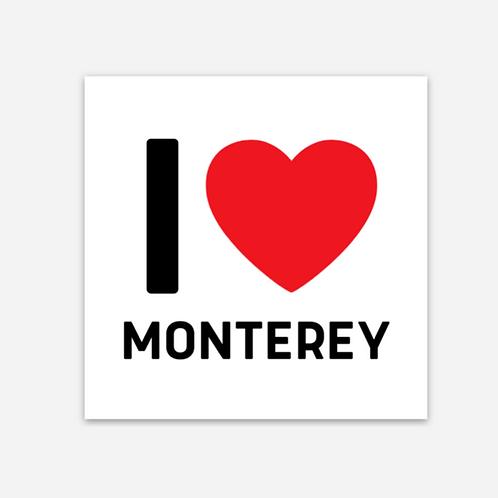 I ❤️ MONTEREY MAGNET