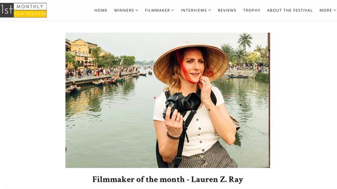 FILMMAKER OF THE MONTH - 1st Monthly Film Fest