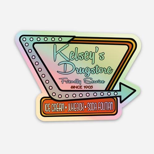 KELSEY'S RETRO HOLOGRAPHIC STICKER