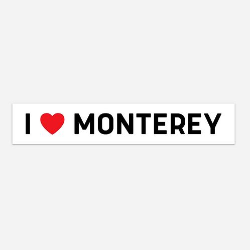 I ❤️ MONTEREY BUMPER STICKER