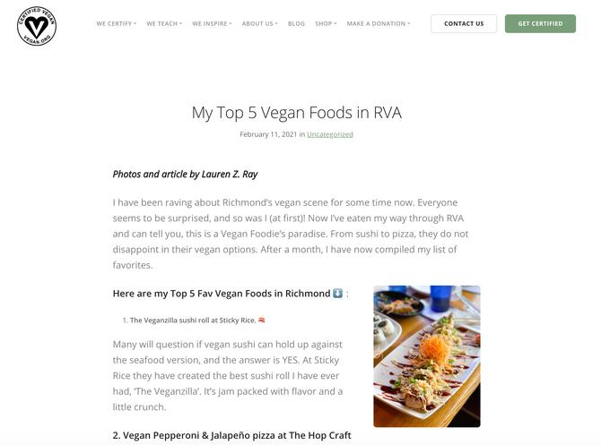 Vegan.Org had me do a Guest Blog!
